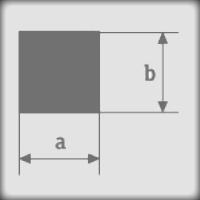 Резмеры сечения силиконового шнура с квадратным сечением