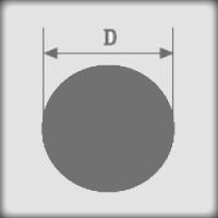 Размеры силиконового шнура с круглым сечением