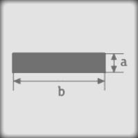 Резмеры сечения силиконового шнура с прямоугольным сечением